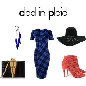 trend-alert-plaid-dress-brim-hat-feathers