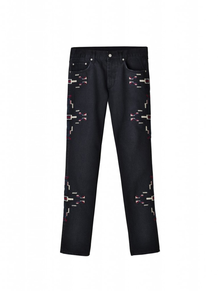 isabel-marant-hm-black-print-pants