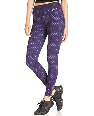 Nike Pro-Hyperwarm Dot-Print Dri-FIT Leggings