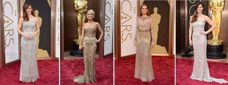 metallic dresses oscars 2014