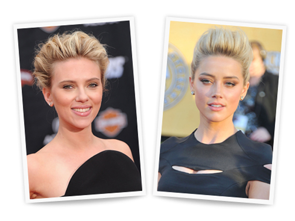 Scarlett Johansson and Amber Heard