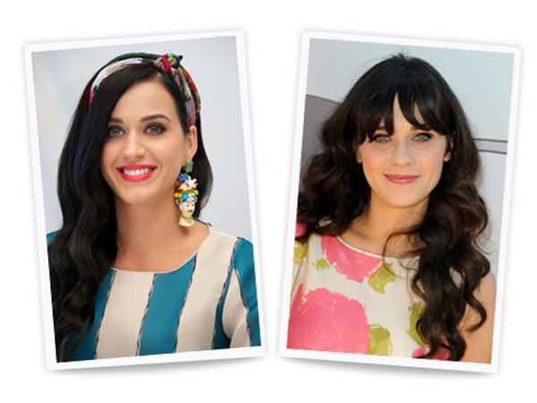 Katy Perry and Zooey Deschanel
