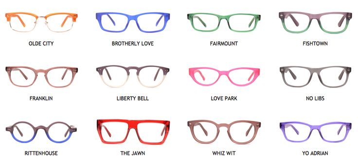 Eyeglass Frame Style Names : No Commitment Frames from Philly EyeWorks - Fashion ...