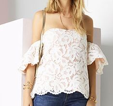 alexis valentino lace top