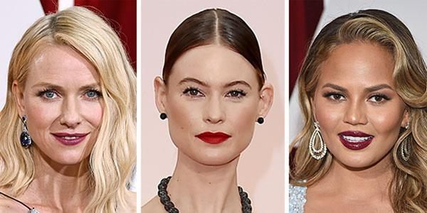 bold lip oscars 2015 beauty trend