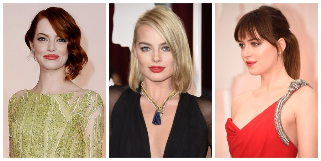 bold lips at the oscars 2015