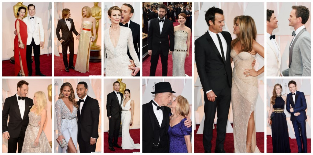 couples at 2015 oscars