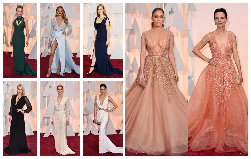 plunging necklines at the oscars 2015