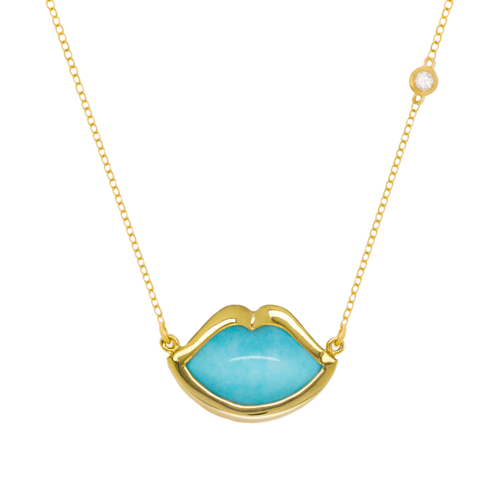 cliffandb-french-kiss-colleciton-miami-jewelry-lip-neckllace-turquise