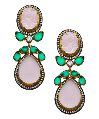 Belsi--lavender-quartz-emerald-earrings